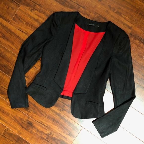 ARK & CO Hi Low Cropped Blazer Jacket